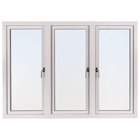 SP Fönster Stabil Sidohängt Trä 3-luft 3-glas